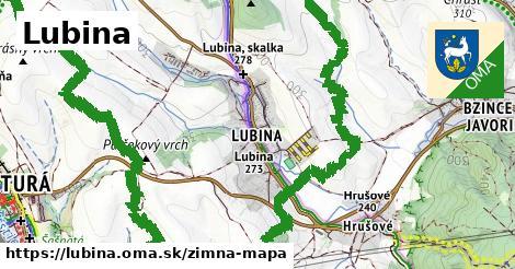 ikona Lubina: 0,82km trás zimna-mapa  lubina