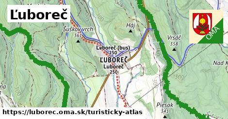 ikona Ľuboreč: 11,2km trás turisticky-atlas  luborec