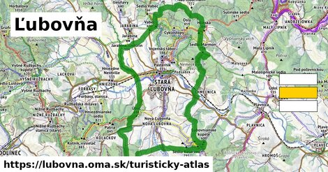 ikona Ľubovňa: 36km trás turisticky-atlas  lubovna