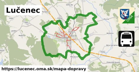ikona Lučenec: 62km trás mapa-dopravy  lucenec