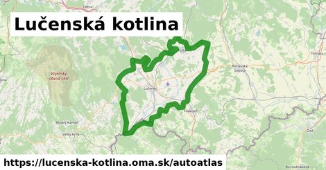 ikona Mapa autoatlas  lucenska-kotlina