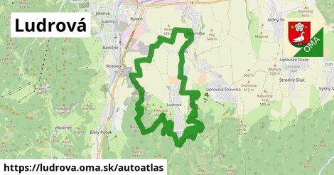 ikona Mapa autoatlas  ludrova