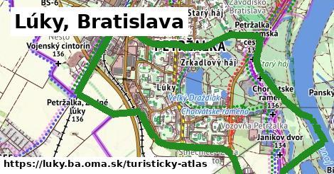 ikona Lúky, Bratislava: 2,6km trás turisticky-atlas v luky.ba