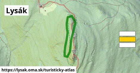 ikona Turistická mapa turisticky-atlas  lysak