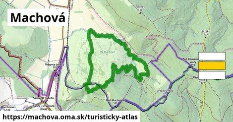 ikona Machová: 340m trás turisticky-atlas  machova