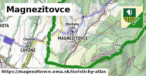 ikona Magnezitovce: 8,3km trás turisticky-atlas  magnezitovce