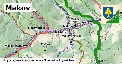 ikona Makov: 106km trás turisticky-atlas  makov