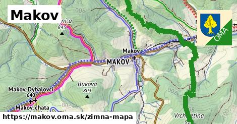 ikona Makov: 33km trás zimna-mapa  makov