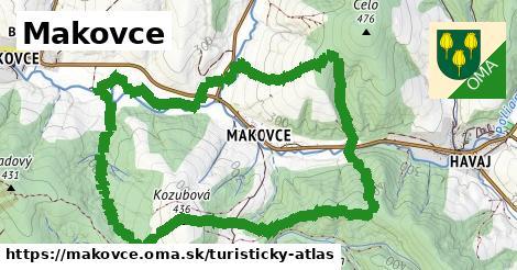 ikona Makovce: 0m trás turisticky-atlas v makovce