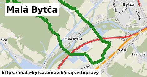 ikona Malá Bytča: 13,7km trás mapa-dopravy v mala-bytca