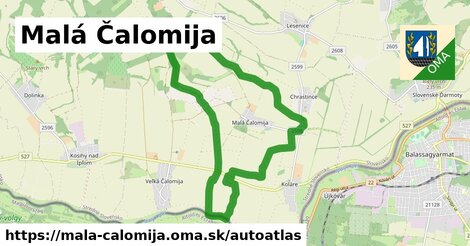 ikona Mapa autoatlas  mala-calomija