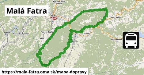 ikona Malá Fatra: 76km trás mapa-dopravy  mala-fatra