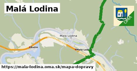 ikona Malá Lodina: 12,6km trás mapa-dopravy  mala-lodina