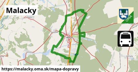 ikona Malacky: 175km trás mapa-dopravy  malacky