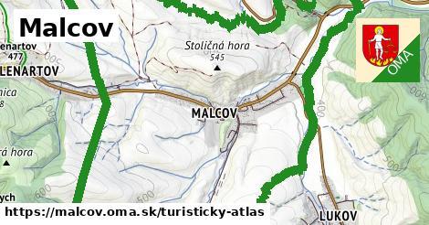 ikona Turistická mapa turisticky-atlas  malcov