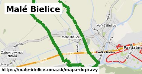 ikona Malé Bielice: 0m trás mapa-dopravy  male-bielice