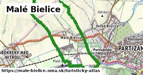 ikona Malé Bielice: 0m trás turisticky-atlas  male-bielice