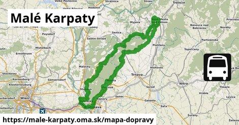 ikona Malé Karpaty: 1347km trás mapa-dopravy  male-karpaty