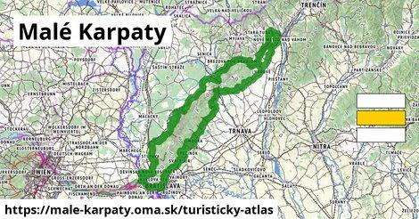 ikona Malé Karpaty: 1153km trás turisticky-atlas  male-karpaty