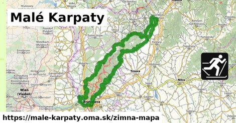 ikona Malé Karpaty: 191km trás zimna-mapa  male-karpaty