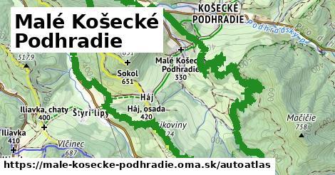 ikona Mapa autoatlas  male-kosecke-podhradie