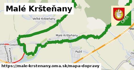 ikona Malé Kršteňany: 1,20km trás mapa-dopravy  male-krstenany
