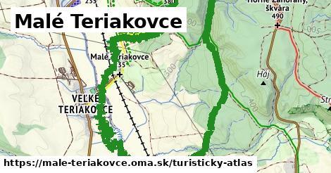 ikona Malé Teriakovce: 4,0km trás turisticky-atlas  male-teriakovce
