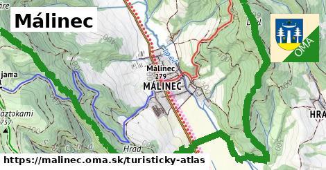 ikona Málinec: 8,2km trás turisticky-atlas  malinec