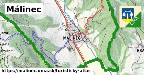 ikona Turistická mapa turisticky-atlas  malinec