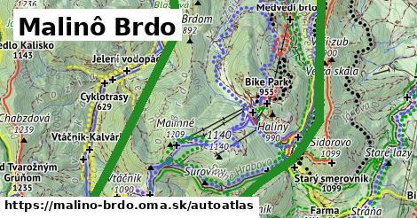 ikona Mapa autoatlas  malino-brdo