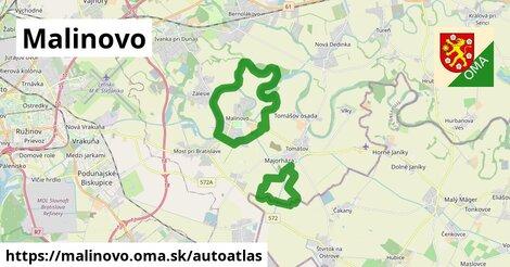 ikona Mapa autoatlas  malinovo