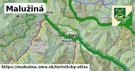 ikona Turistická mapa turisticky-atlas  maluzina