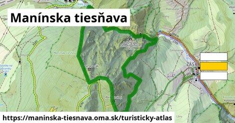 ikona Turistická mapa turisticky-atlas  maninska-tiesnava
