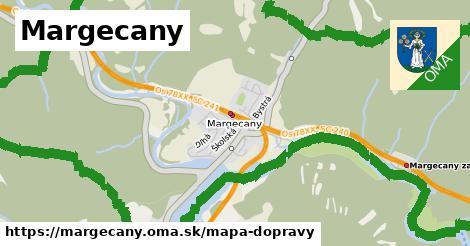 ikona Margecany: 13,8km trás mapa-dopravy  margecany
