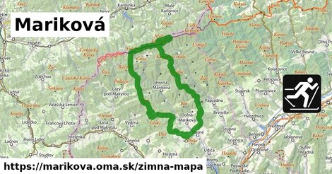 ikona Mariková: 5,3km trás zimna-mapa  marikova