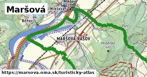 ikona Maršová: 0m trás turisticky-atlas v marsova