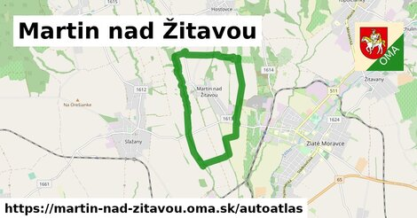 ikona Mapa autoatlas  martin-nad-zitavou