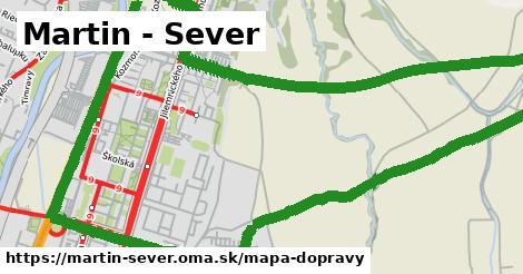 ikona Martin - Sever: 11,3km trás mapa-dopravy v martin-sever