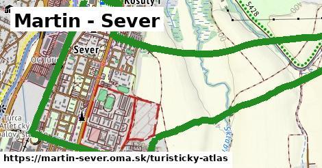 ikona Martin - Sever: 0m trás turisticky-atlas v martin-sever