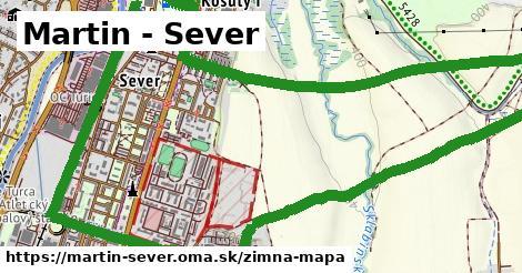 ikona Martin - Sever: 0m trás zimna-mapa v martin-sever