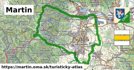 ikona Turistická mapa turisticky-atlas  martin