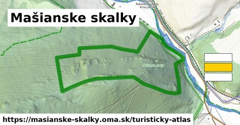 ikona Turistická mapa turisticky-atlas  masianske-skalky