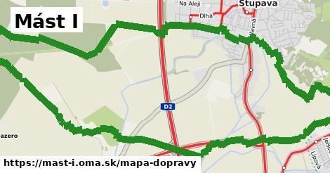 ikona Mást I: 83km trás mapa-dopravy  mast-i