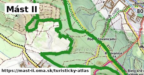 ikona Mást II: 1,27km trás turisticky-atlas  mast-ii