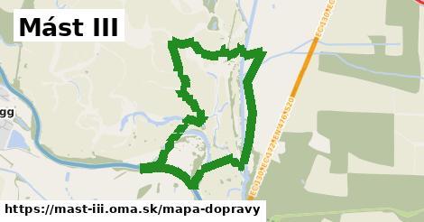 ikona Mást III: 0m trás mapa-dopravy  mast-iii