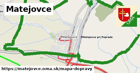 ikona Matejovce: 22km trás mapa-dopravy v matejovce
