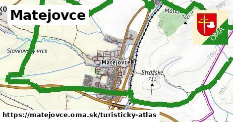 ikona Matejovce: 0m trás turisticky-atlas v matejovce