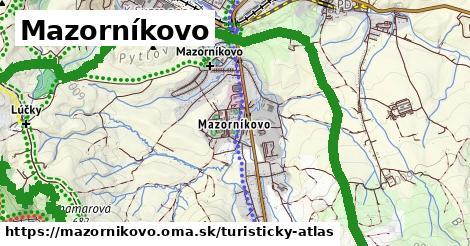 ikona Mazorníkovo: 2,6km trás turisticky-atlas v mazornikovo