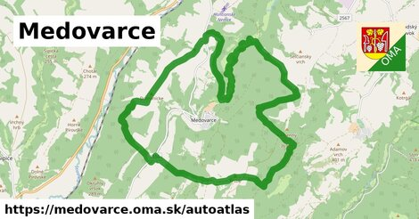 ikona Mapa autoatlas  medovarce
