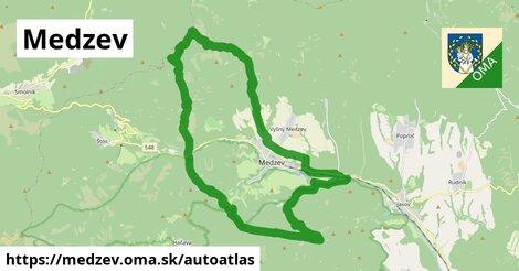 ikona Mapa autoatlas  medzev